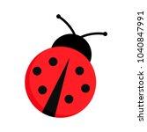 ladybug or ladybird vector... | Shutterstock .eps vector #1040847991