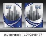 annual report brochure flyer... | Shutterstock .eps vector #1040848477