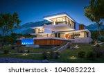 3d rendering of modern cozy...   Shutterstock . vector #1040852221