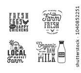 farmers market  organic food...   Shutterstock .eps vector #1040852251