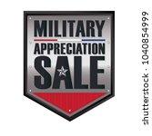 military appreciation sale... | Shutterstock .eps vector #1040854999