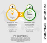 infographics circular vector...   Shutterstock .eps vector #1040856451