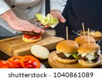cooking burger in the kitchen | Shutterstock . vector #1040861089