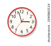 realistic wall clock on white... | Shutterstock .eps vector #1040863114