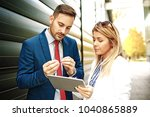 young business people are...   Shutterstock . vector #1040865889
