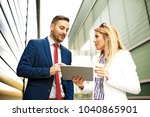 young business people are...   Shutterstock . vector #1040865901