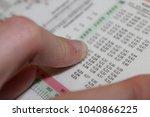 reading the electrocardiogram   Shutterstock . vector #1040866225