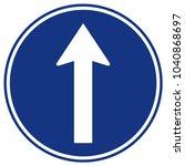 go straight ahead traffic road...   Shutterstock .eps vector #1040868697