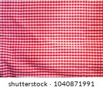 close up top view of red and... | Shutterstock . vector #1040871991