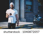 young bearded positive... | Shutterstock . vector #1040872057