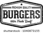 premium beef burgers vintage... | Shutterstock .eps vector #1040873155