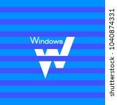 window logo. letter w logo. | Shutterstock .eps vector #1040874331