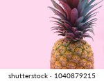 pineapple with colorful leaves... | Shutterstock . vector #1040879215
