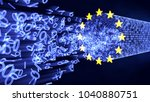 european union data protection  ... | Shutterstock . vector #1040880751