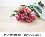 bunch of beautiful pink roses... | Shutterstock . vector #1040881087