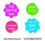 spring sale discount flower... | Shutterstock .eps vector #1040885839