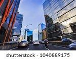 car traffic on western... | Shutterstock . vector #1040889175