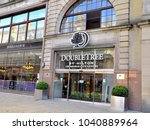 entrance to the double tree... | Shutterstock . vector #1040889964