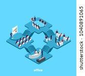 people in business suits work... | Shutterstock .eps vector #1040891065