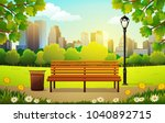 Vector Illustration Of Bench...