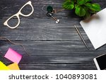 workplace. view from above....   Shutterstock . vector #1040893081
