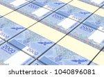 kyrgyzstani som bills stacks... | Shutterstock . vector #1040896081