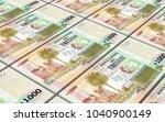 uruguay peso bills stacks... | Shutterstock . vector #1040900149