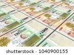 uruguay peso bills stacks... | Shutterstock . vector #1040900155