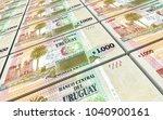 uruguay peso bills stacks... | Shutterstock . vector #1040900161