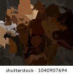 oil painting on canvas handmade.... | Shutterstock . vector #1040907694