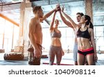 group of sporty muscular people ... | Shutterstock . vector #1040908114