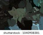 oil painting on canvas handmade.... | Shutterstock . vector #1040908381