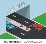 isometric 3d vector...   Shutterstock .eps vector #1040911309