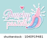 punchy pastel concept with... | Shutterstock .eps vector #1040919481