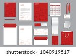 corporate identity design... | Shutterstock .eps vector #1040919517