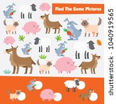 match games for kid with animal ... | Shutterstock .eps vector #1040919565