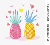 punchy pastel fruits | Shutterstock .eps vector #1040920459