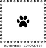 Black Animal Pawprint Icon...