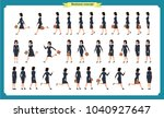 collection set of walking and... | Shutterstock .eps vector #1040927647
