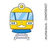 city train or subway front view ... | Shutterstock .eps vector #1040930437
