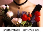 close up young girl with black... | Shutterstock . vector #1040931121