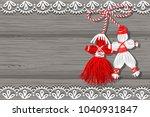 baba marta day. martenitsa ... | Shutterstock .eps vector #1040931847