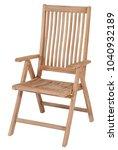 teak garden furniture  chair... | Shutterstock . vector #1040932189