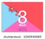 vector 8 march   women's day... | Shutterstock .eps vector #1040940085