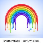 vector colorful rainbow arch... | Shutterstock .eps vector #1040941201