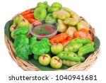 isolated of popular thai... | Shutterstock . vector #1040941681