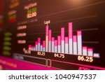 red stock exchange market graph ... | Shutterstock . vector #1040947537