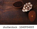 chocolate egg with filling for... | Shutterstock . vector #1040954005