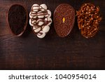 chocolate egg with filling for...   Shutterstock . vector #1040954014