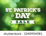 st. patrick's day sale grunge...   Shutterstock . vector #1040954581